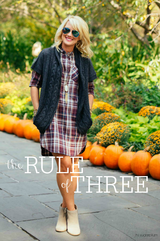 Hi Sugarplum | the Rule of Three