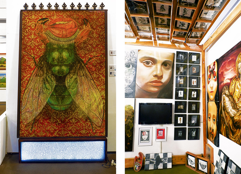 Manilart 2015 Works from Mendez Big and Small Gallery Left: Fly on the Wall by Vincent Navarro;
