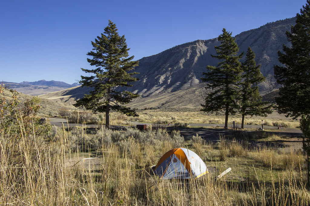 Mammoth Hot Springs Campground | At elevation of 6,200 ft (1