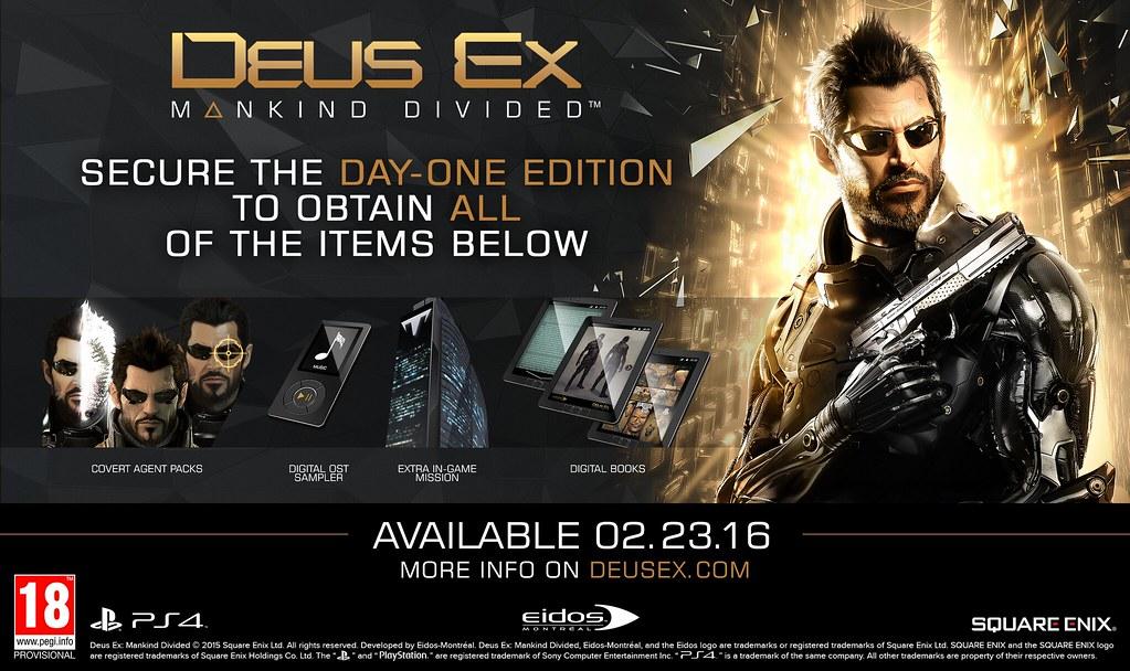 Deus EX Mankind Divided para PS4