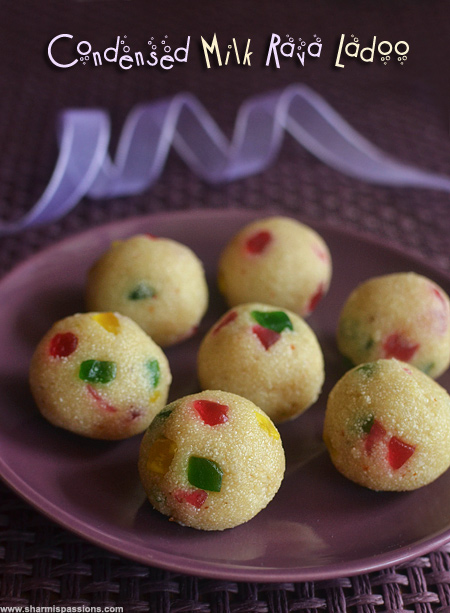 Rava Ladoo with Condensed Milk