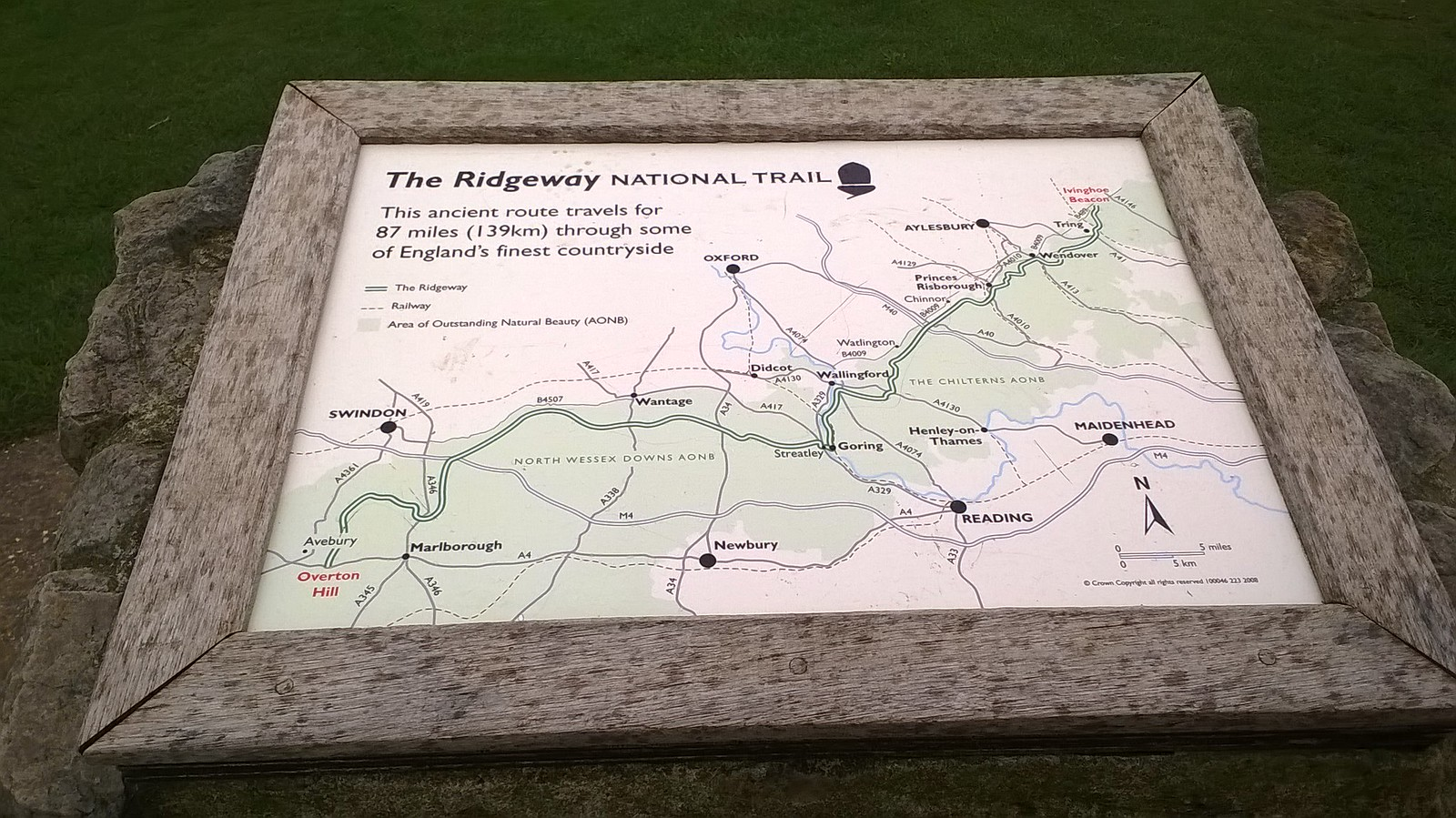 'The Ridgeway National Trail' Situated on summit of Ivinghoe Beacon
