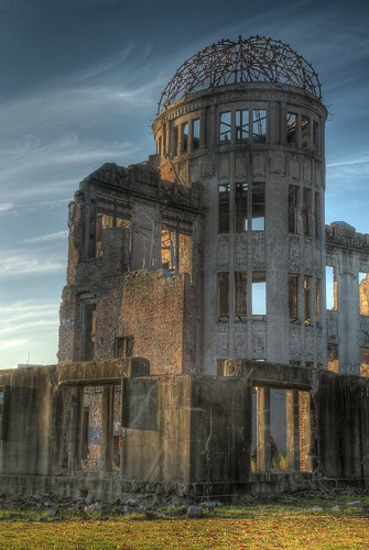 A-Bomb Dome at Hiroshima in early evening on OCT 28, 2015 (5)