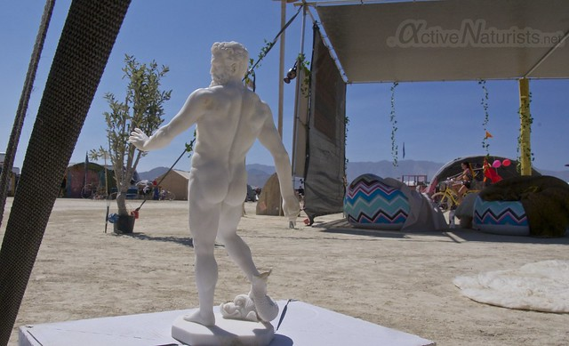 naturist gymnasium 0014 Burning Man 2015, Black Rock City, Nevada, USA