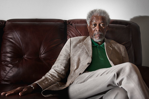 Morgan Freeman crossed legs