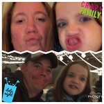 Gretchyn crashed our data night @ the creamery banquet & we had to make some funny faces to show her sisters!