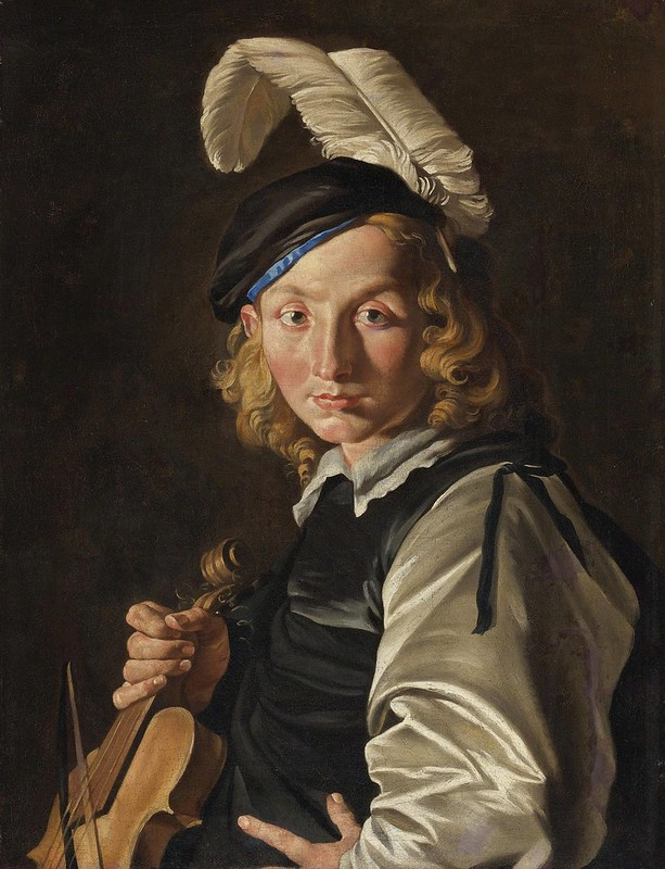Matthias Stomer - Young Man with a Fiddle
