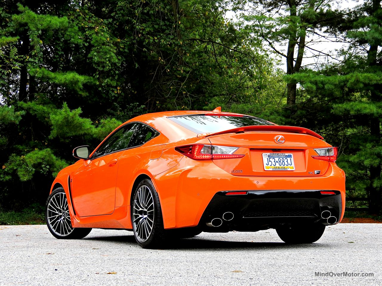 Orange Lexus RC-F Review 14