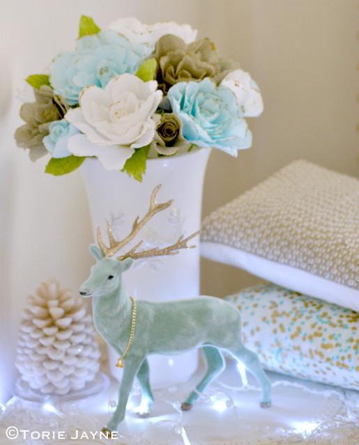 Handmade crepe paper roses