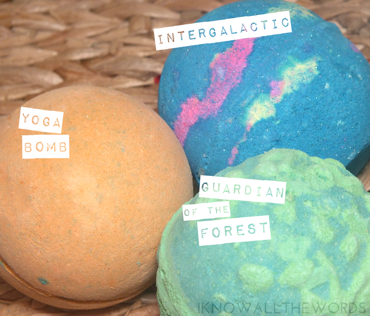 Lush #Bathart Yoga Bomb, Intergalactic, and Guardian of the Forest Bath Bomb (1)