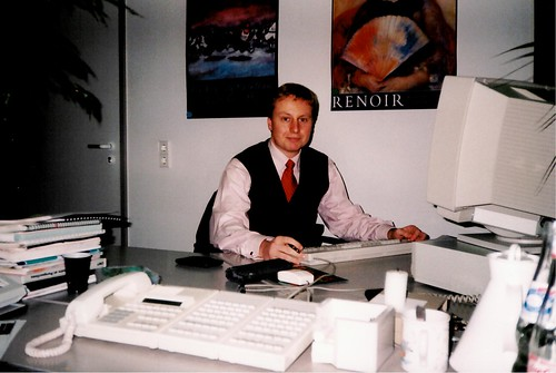 Marc at Daimler headquarters in Stuttgart (1996)