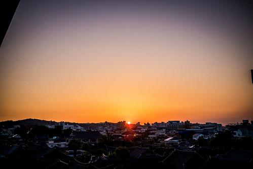 city sunset urban southkorea rok jeonju roofscape eastasian 대한민국 republicofkorea