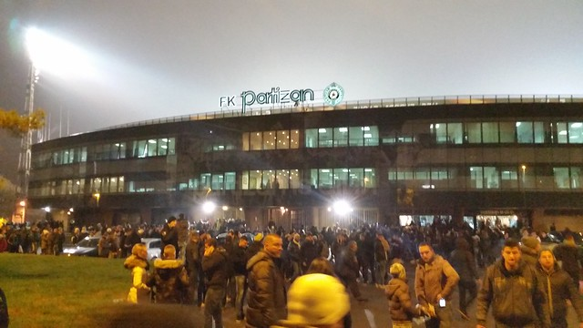 FK Partizan (ФК Партизан) v. Augsburg; Europa League, December 10, 2015