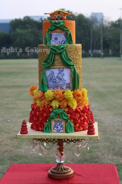 Indian Traditional Wedding Cake by Ankita Dave of Anki's Cakery
