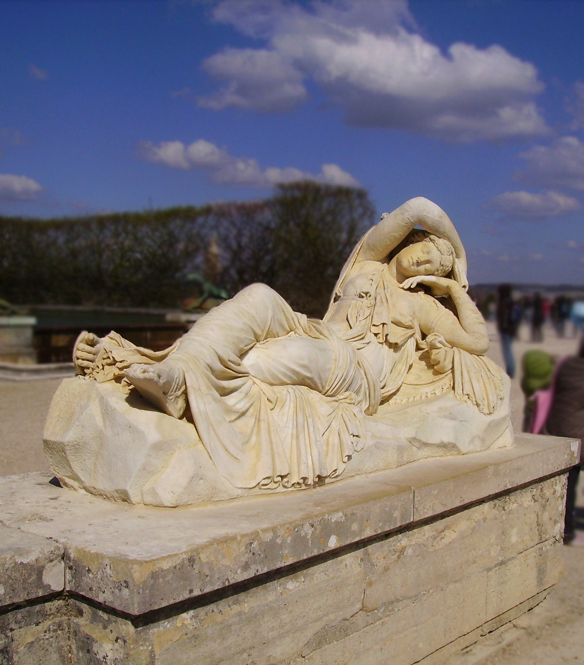Daydreaming Ariadne at Versailles. Credit Yair Haklai
