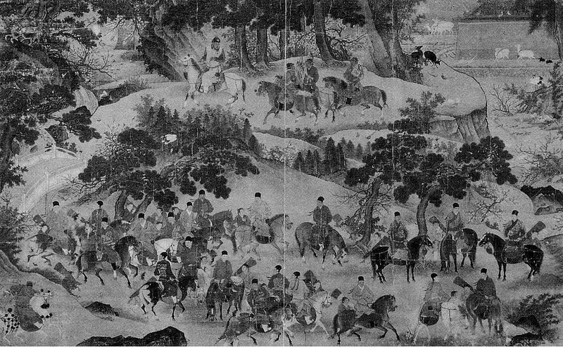 The Xuande Emperor on an Outing, by Shang Xi