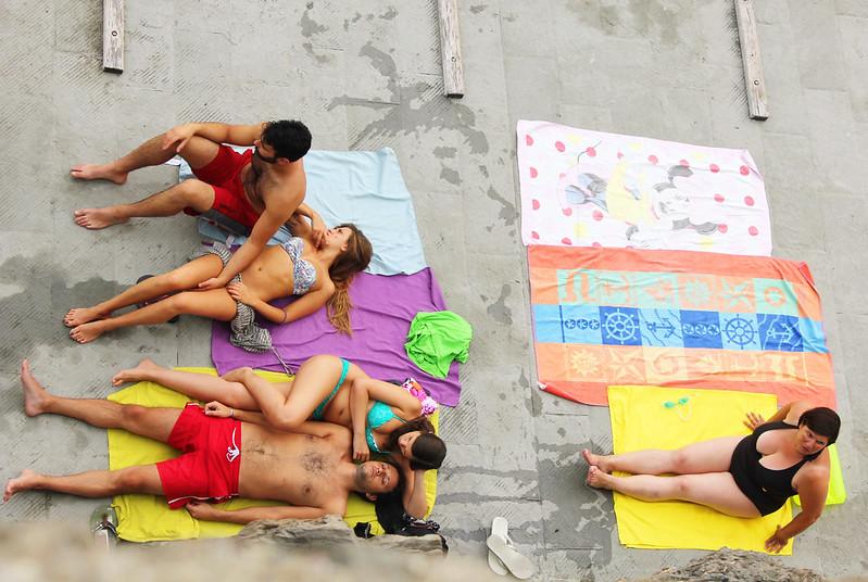 Vernazza Cinque Terre sunbathing