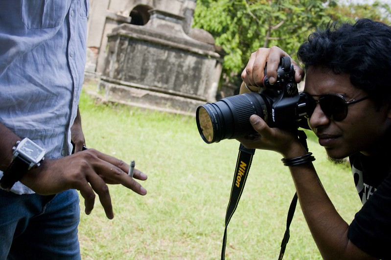 Photographer Utsav Dutta at South Park Street Cemetery - Kolkata, India