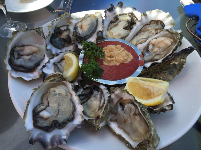 New England Blue Point oysters - Sinbad's Pier 2 Restaurant