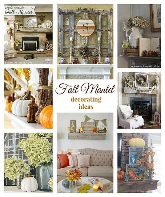 Fall Mantel Decorating Ideas - Housepitality Designs