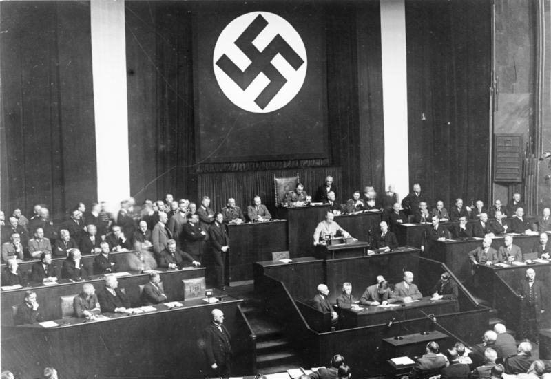 Hitler's speech promoting Enabling Act of 1933 at Kroll Opera House