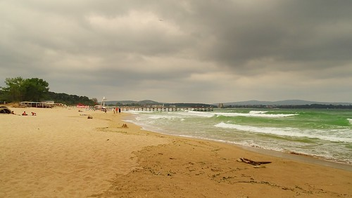 sea summer holiday beach nature water weather clouds landscape sand waves view cloudy bulgaria blacksea primorsko