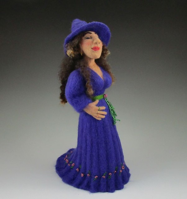 Needle Felted Gnome Witch