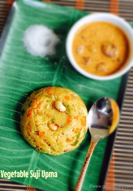 Vegetable Suji Upma for baby 4