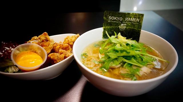 Sokyo Ramen's Yuzu Shio Ramen and Karaage