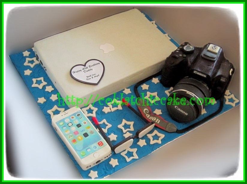 Cake Macbook, Iphone dan Kamera Canon