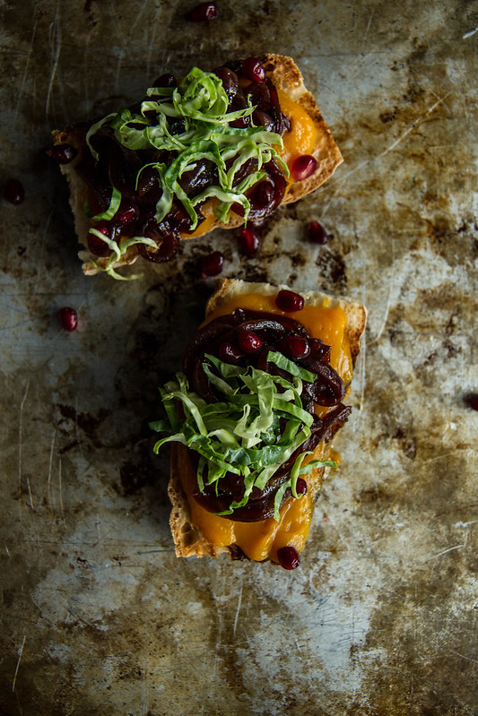 Butternut Squash and Caramelized Onion Crostini