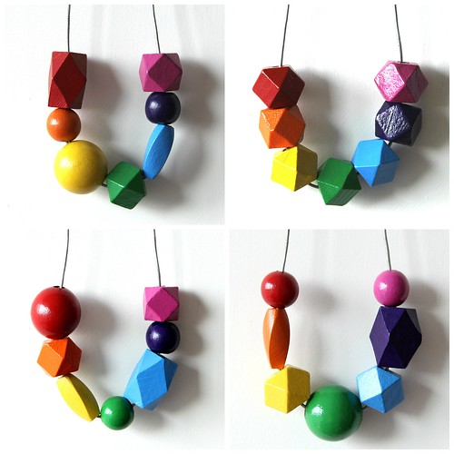 Rainbow necklaces.