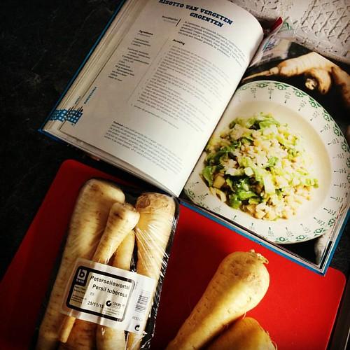 Risotto van vergeten groenten. #ophetmenu #kookboekenmaand #jeroenmeus #dagelijksekost
