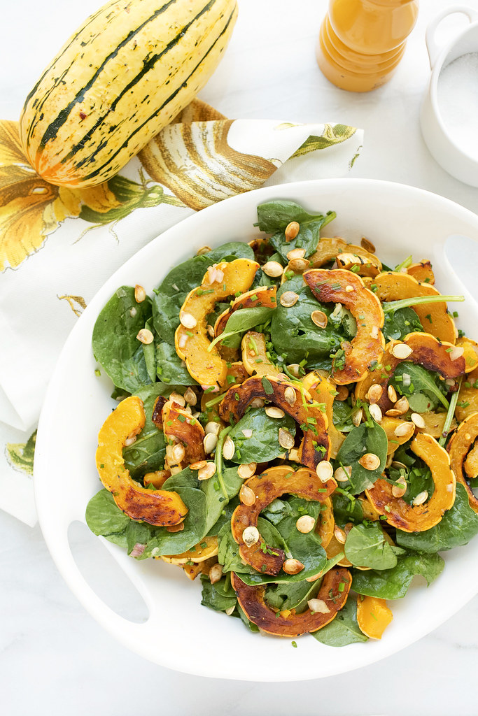 Delicata Squash with Brown Butter Vinaigrette | Striped Spatula