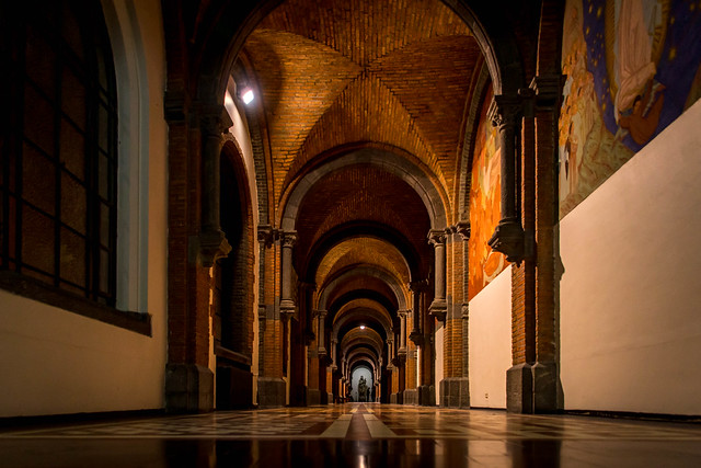 Corridor in the Abbey of Keizersberg, Leuven