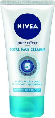 Best Face Wash for oily skin - Nivea Pure Effect Total Face Cleanup