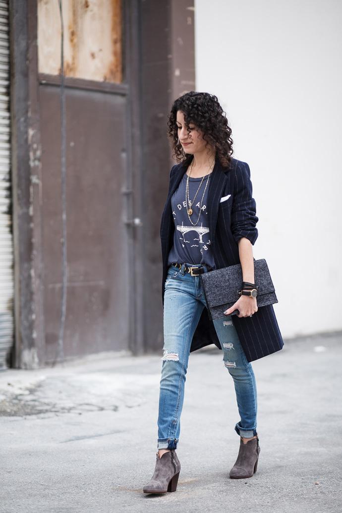 Outfit idea for a long coat petite