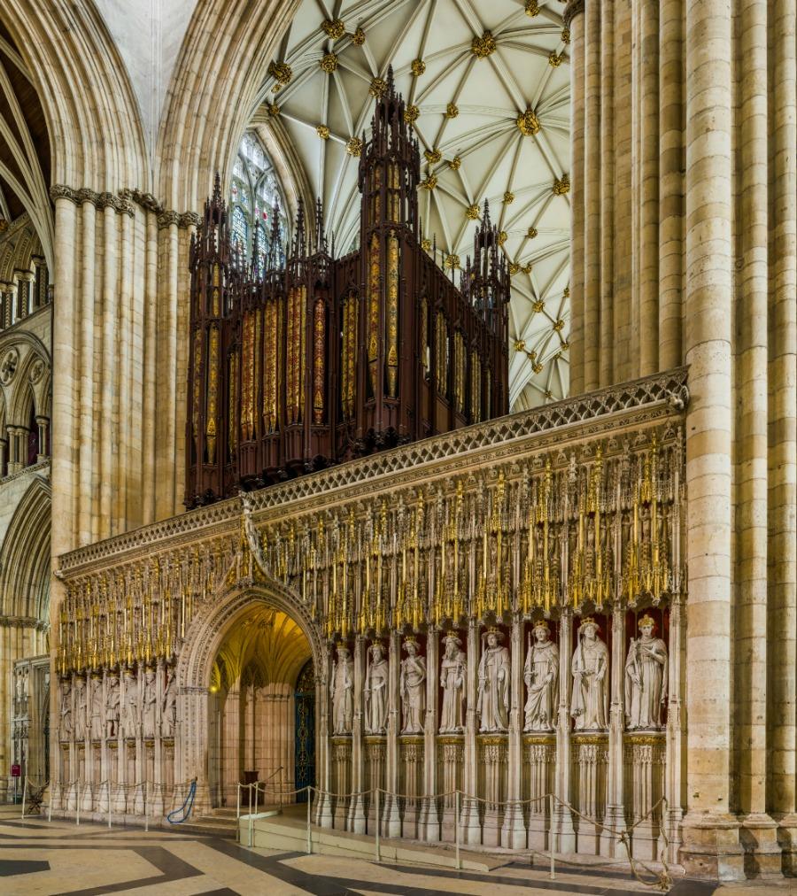 York Minster - The Kings Screen and organ. Credit: David Iliff