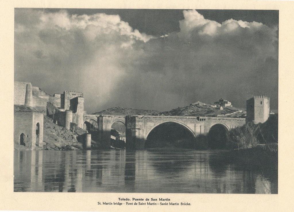 Puente de San Martín hacia 1928 por José Ortiz Echagüe