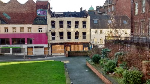 Charlotte Sq burnt out building Dec 15