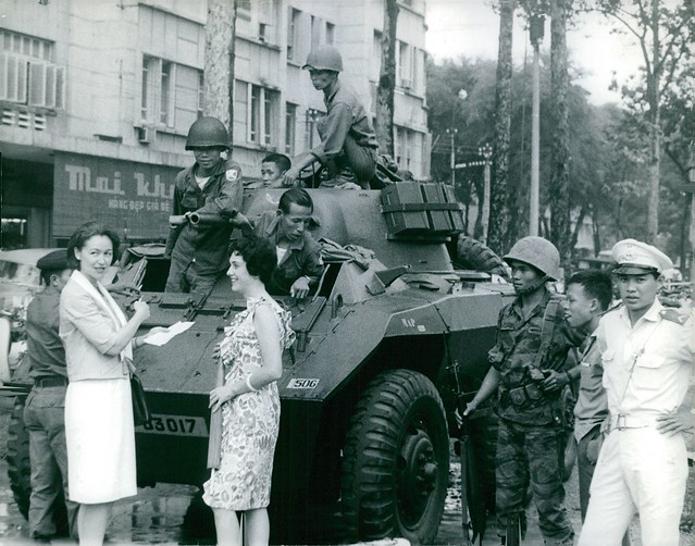 1965 A combat vehicle in Saigon