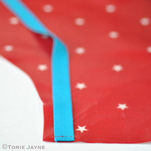 Kids oilcloth apron tutorial 4