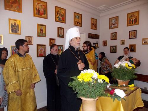 Visita de Sua Eminência Metropolita Inácio à Missão da Proteção da Mãe de Deus