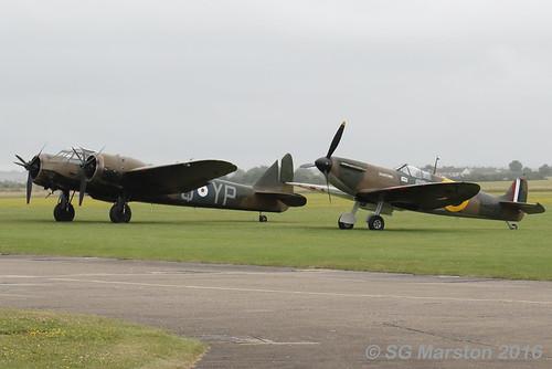 Spitfire and Blenheim