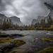 Yosemite and rain by wandering indian