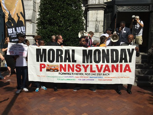 Moral Monday rally in Harrisburg 9.12.16
