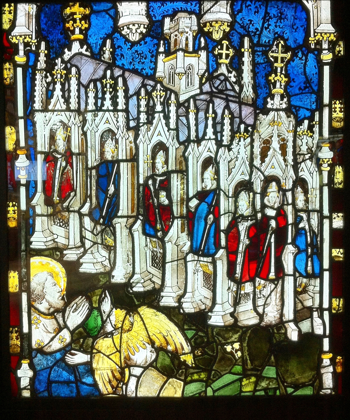 The Seven Churches of Asia in the East Window at York Minster. Credit Andrewrabbott