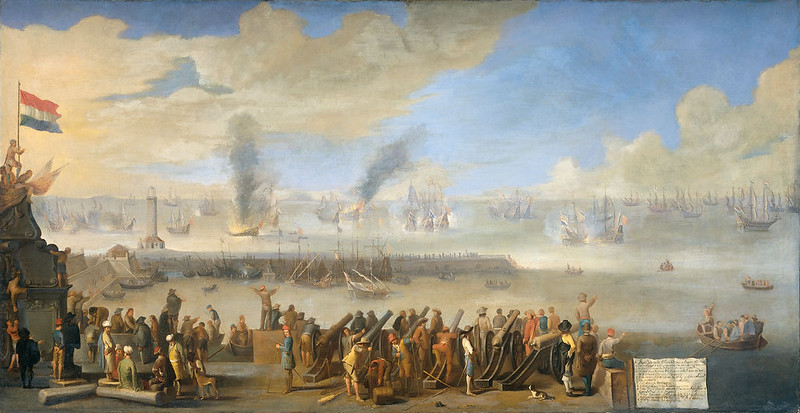 The Battle of Livorno, supposedly by Johannes Lingelbach