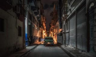 Havana streets at night