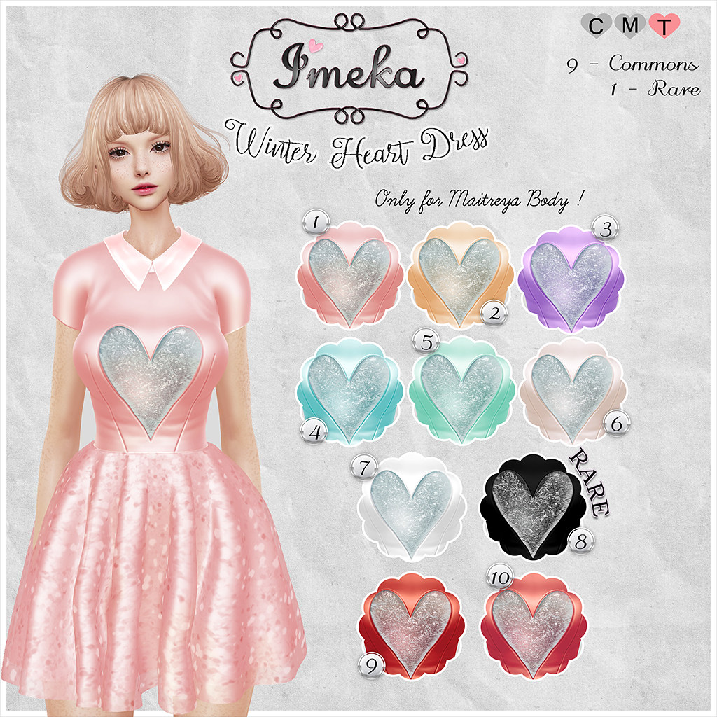 {Imeka} Winter Heart - Dress @ The Arcade - SecondLifeHub.com